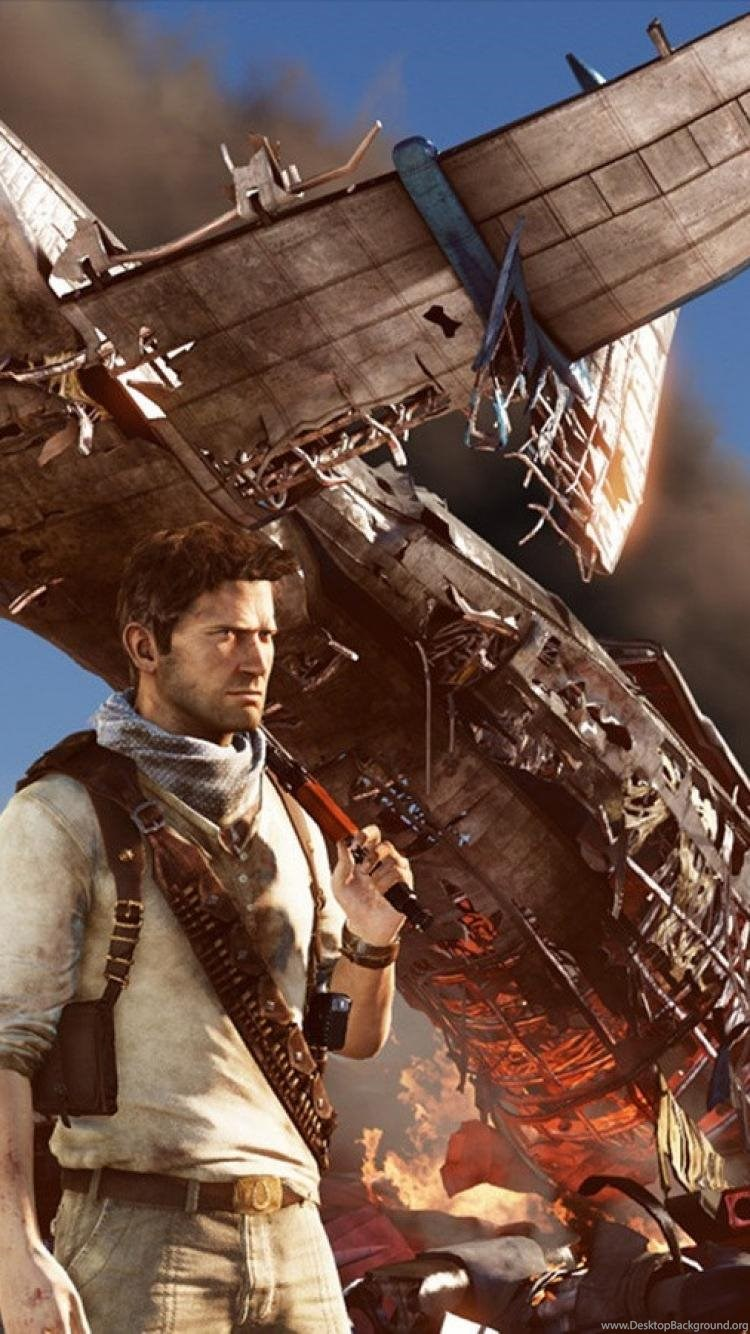 Desert Crash Nathan Drake Adventure Uncharted 3 Wallpapers Desktop
