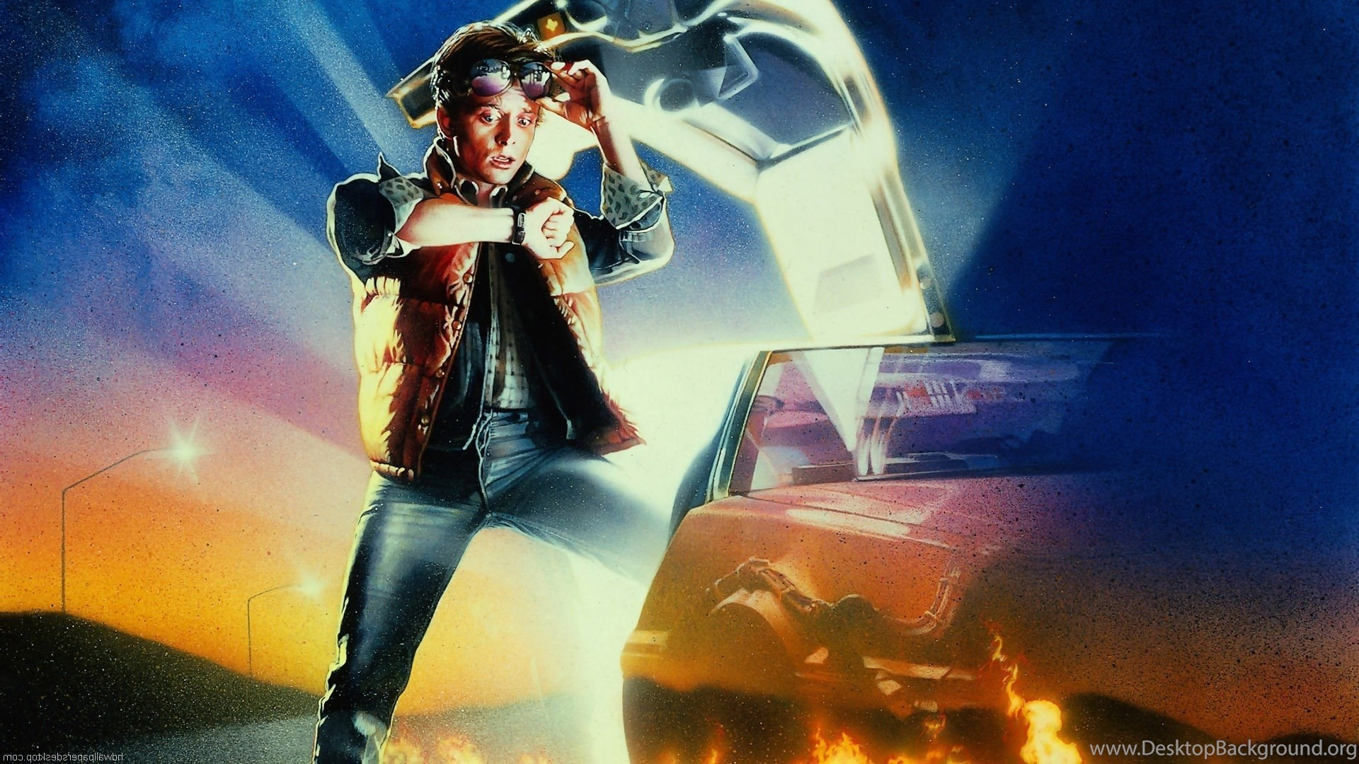 Back To The Future Delorean Movies Time Travel Wallpapers Hd