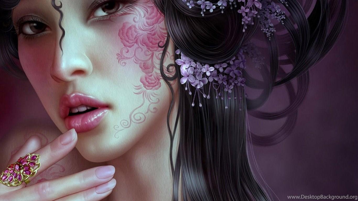 wallpapers asian tattoo geisha beautiful girl 1366x768 desktop background. Black Bedroom Furniture Sets. Home Design Ideas
