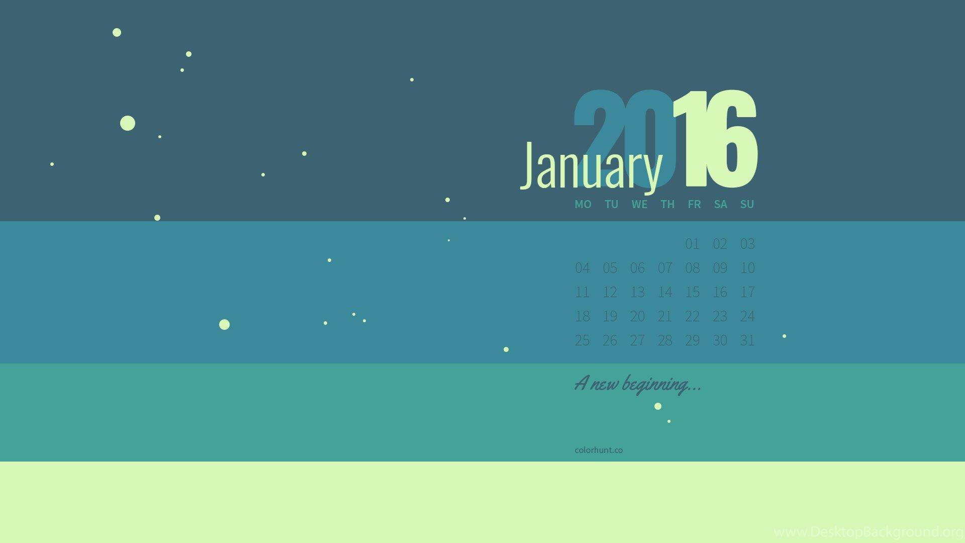 January Color Palette Wallpapers Desktop Background