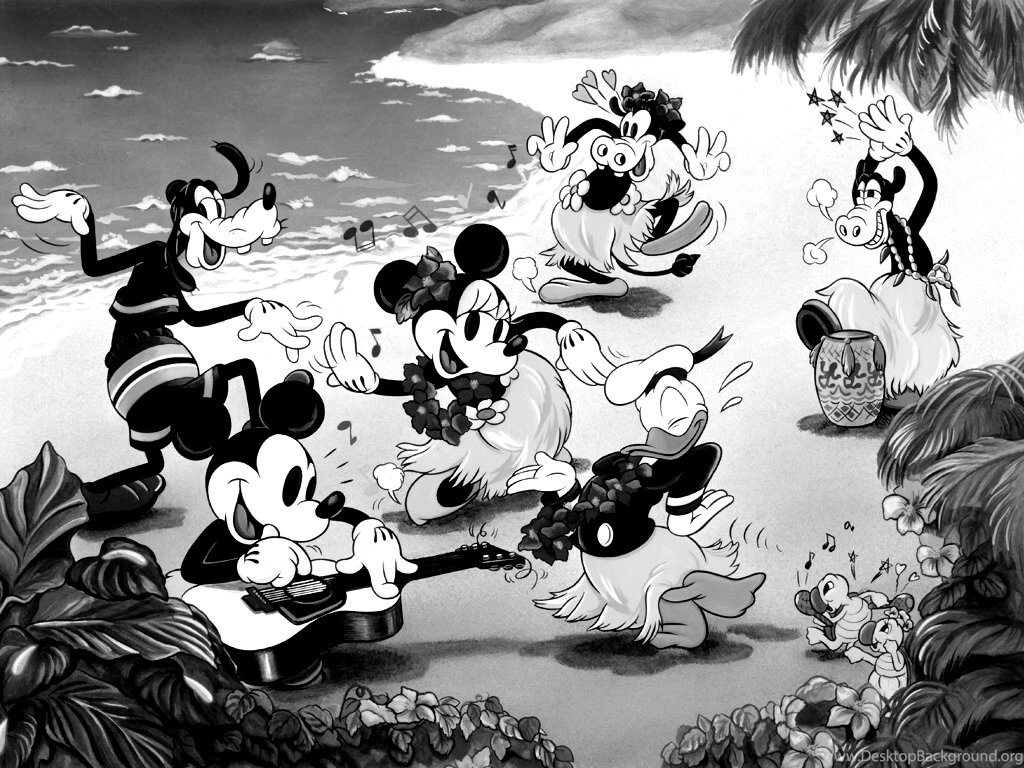 Mickey Mouse Wallpapers Black And White Wallpapers Zone Desktop