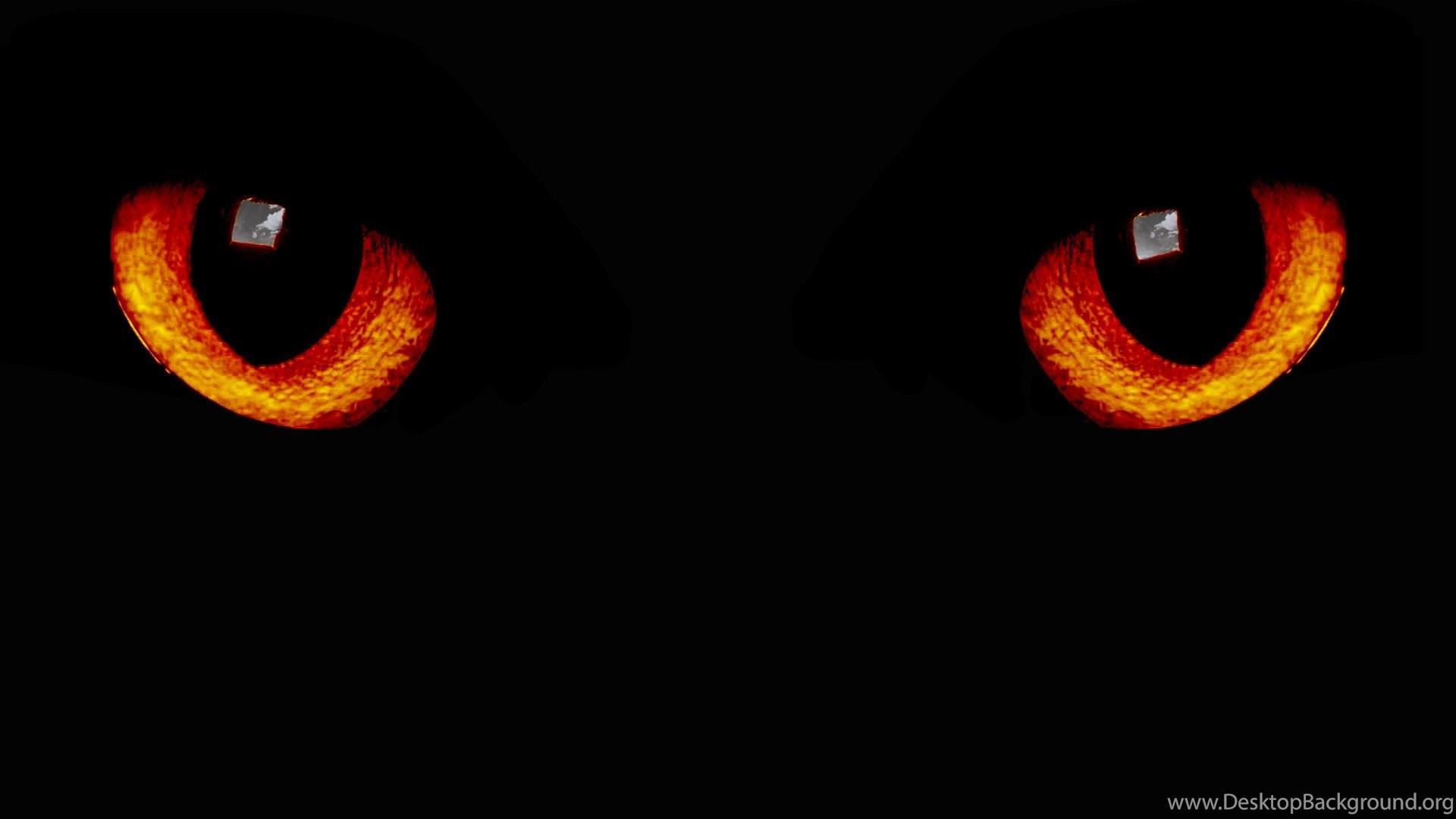 Wallpapers black night eyes dark red cats littleteufel - Animal black background wallpaper ...
