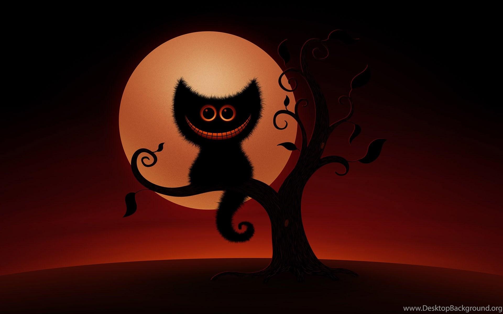 Black Cat Holidays Wallpapers Halloween Desktop Background