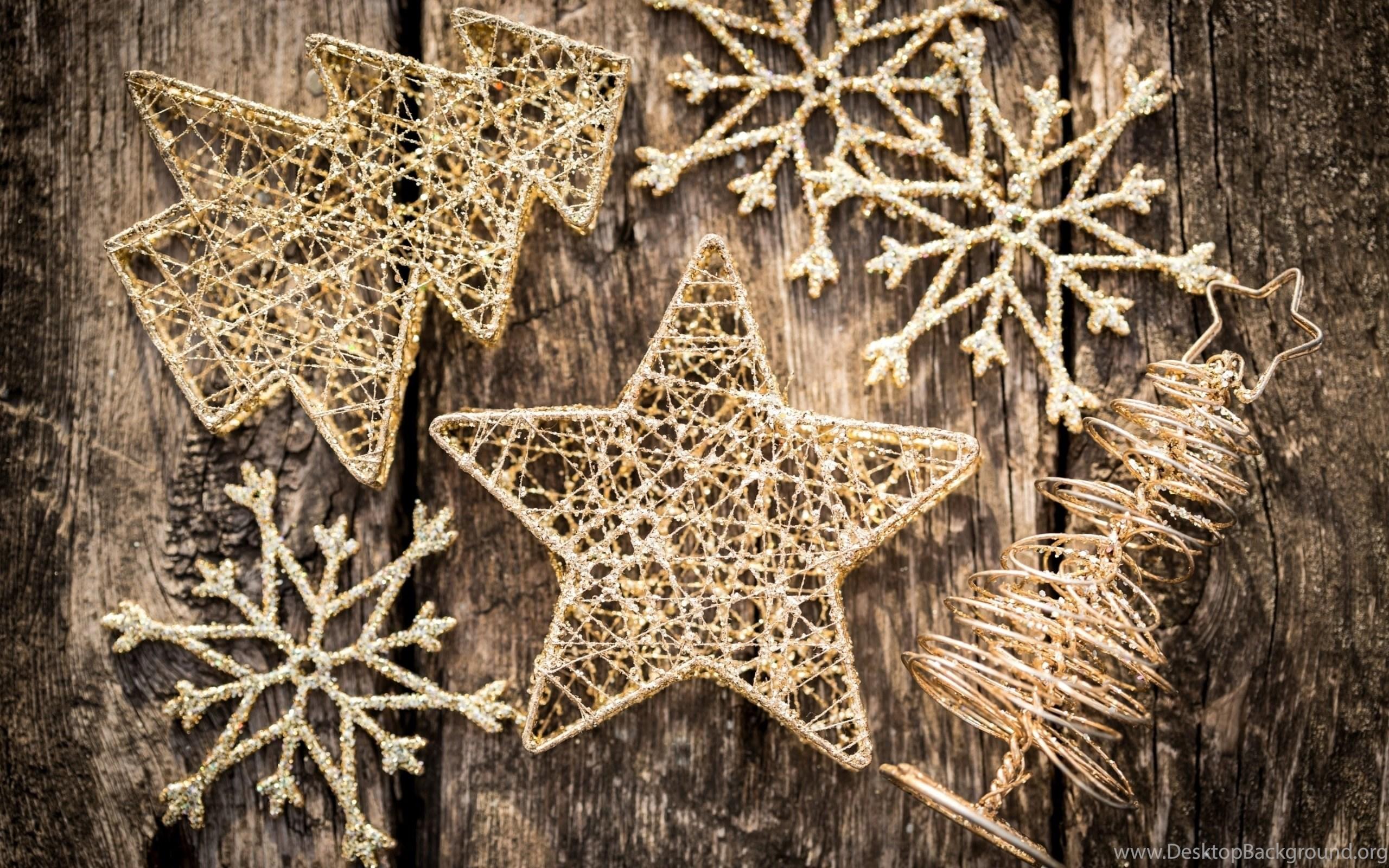 Vintage Christmas Ornaments On Wood Widescreen Wallpapers Desktop