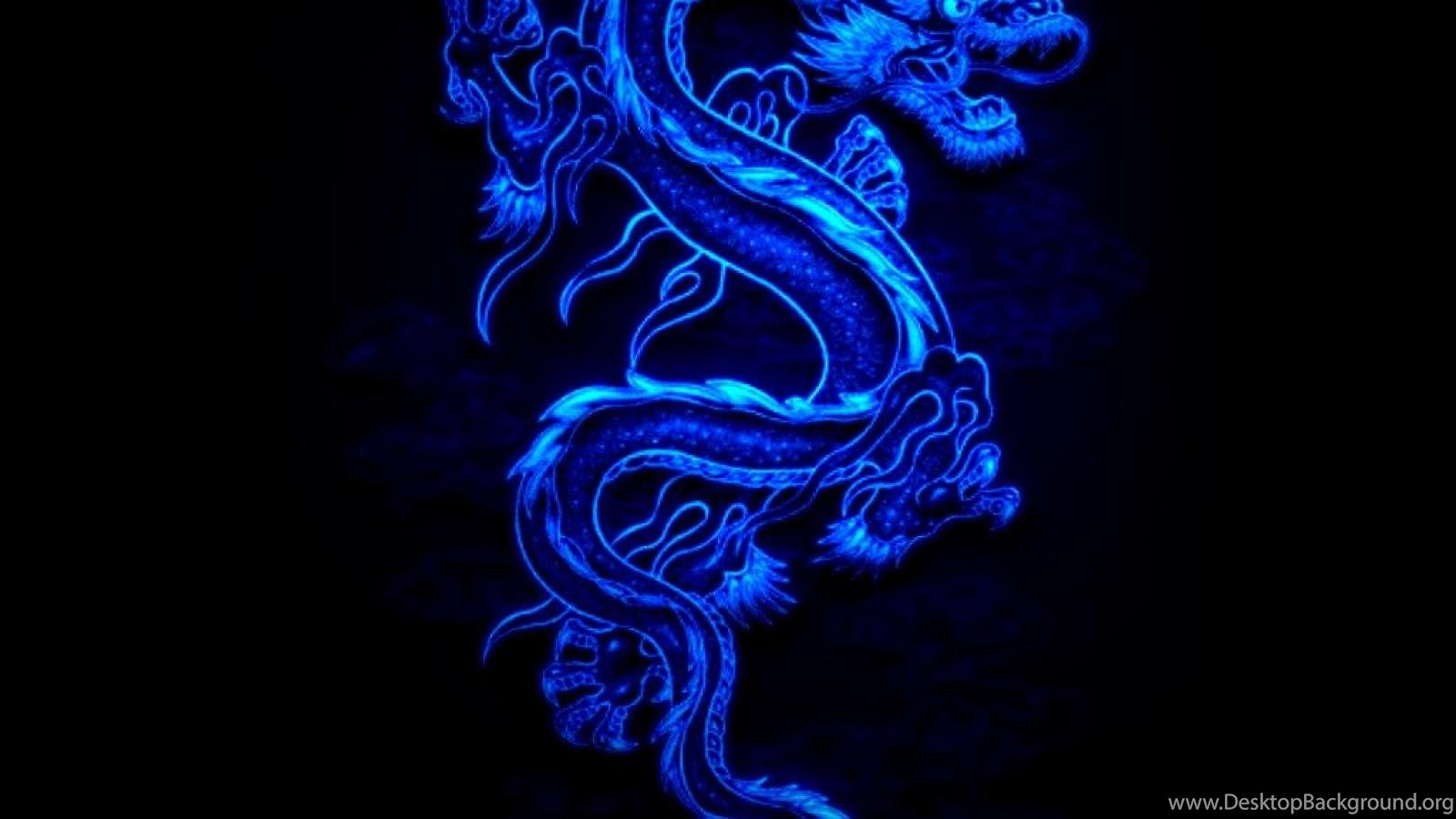 Cool Blue Dragon Black Fire Wallpaper Backgrounds Picture And Desktop Background