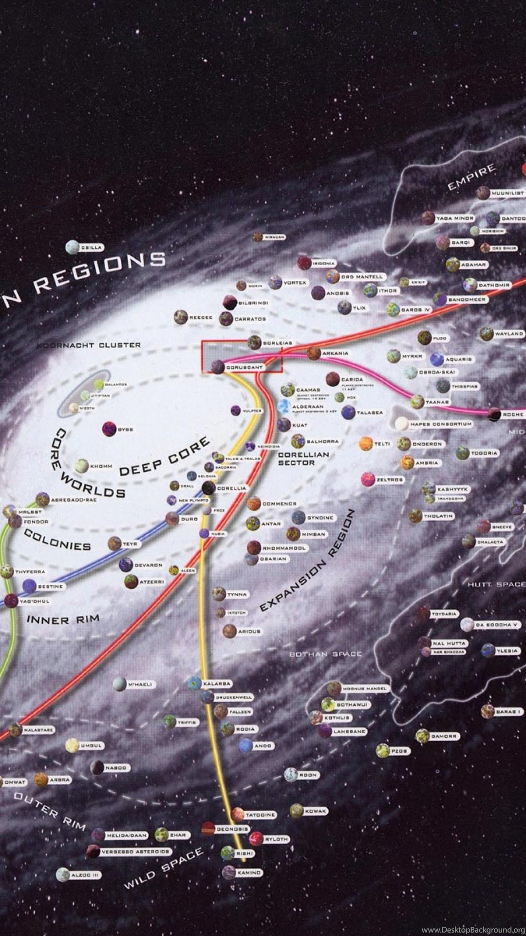 Star Wars Galaxy Map Iphone 5 Wallpapers Desktop Background