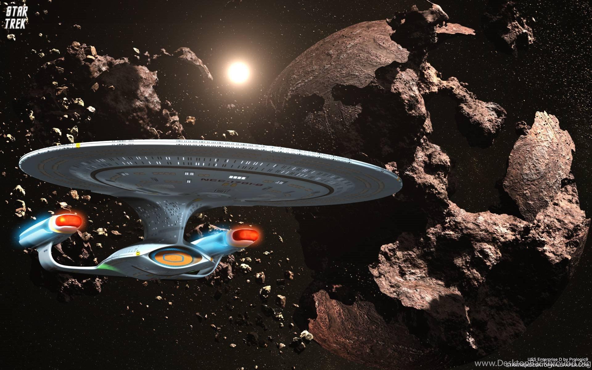 Star Trek Uss Enterprise D Ncc 1701 In Asteroid Field Free Star