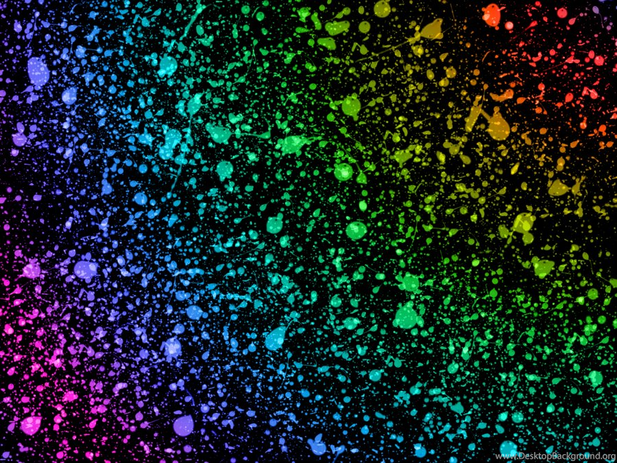 Paint Rainbow Girl Wallpapers: Rainbow Paint Splatter Wallpaper Images Desktop Background