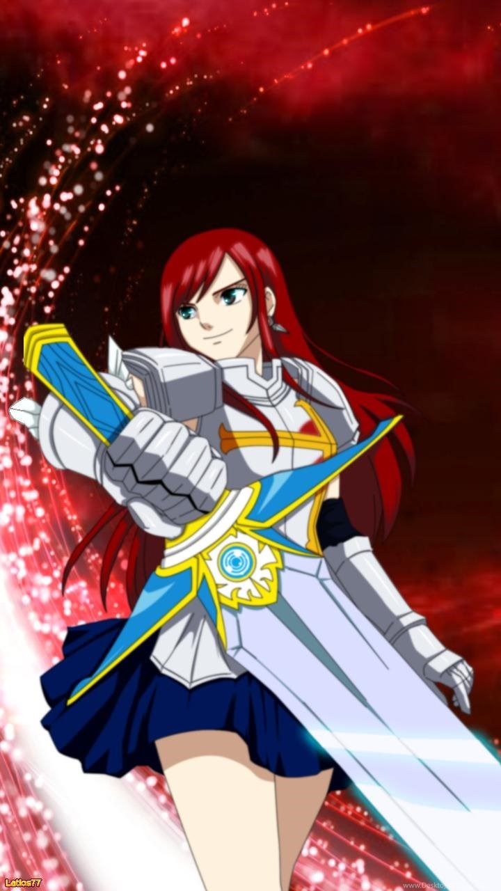 Fairy Tail Erza Wallpapers For Iphone Wallpapers Desktop Background
