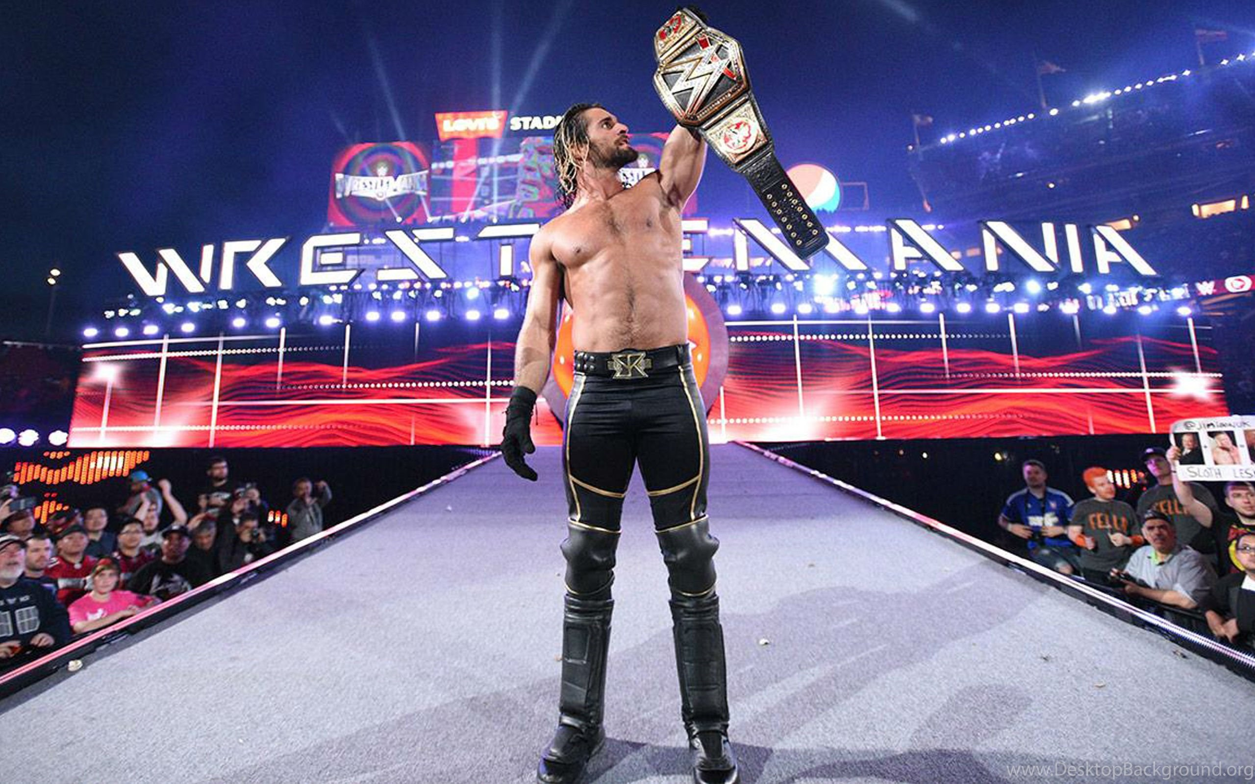 Wwe Champion Seth Rollins Hd Wallpapers Desktop Background