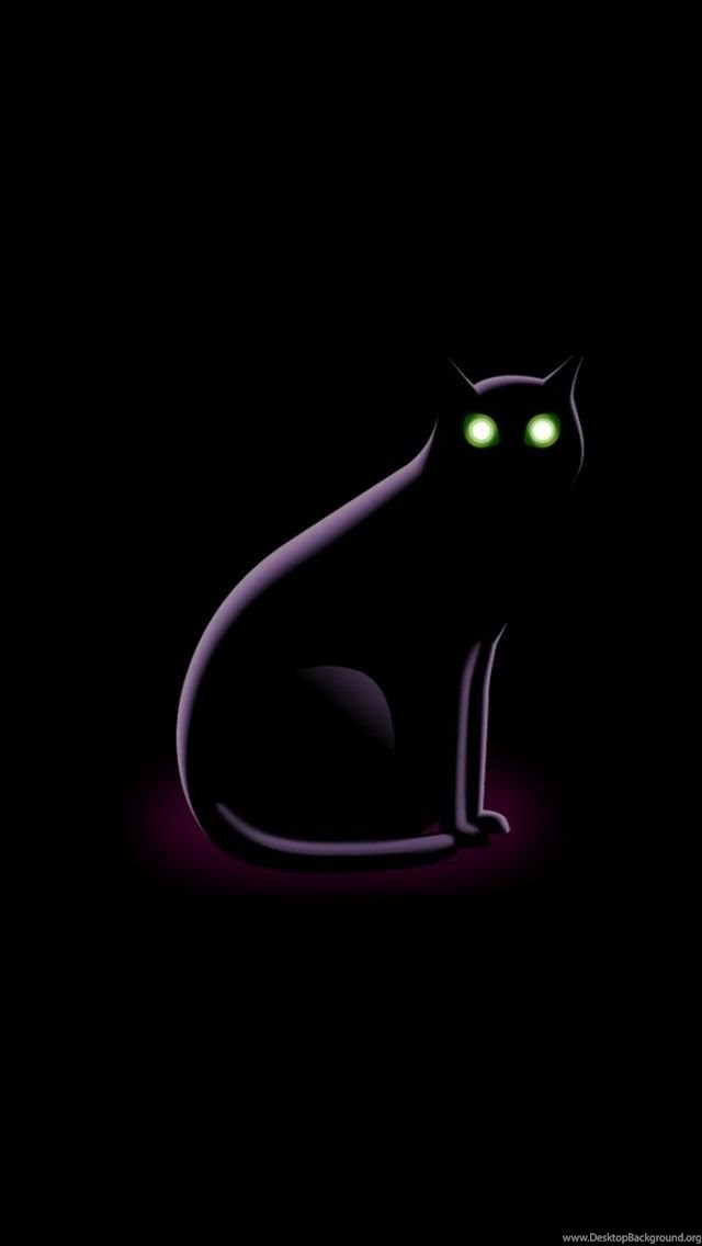 Funny Iphone Wallpaper Backgrounds Lock Screens Small Black Cat Desktop Background