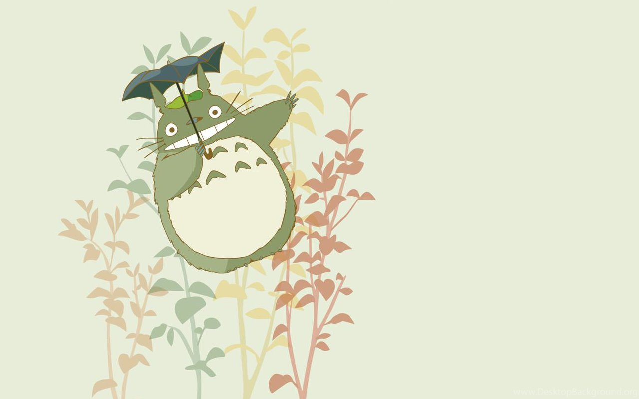 Cartoon Design Totoro Ppt Backgrounds For Powerpoint Templates