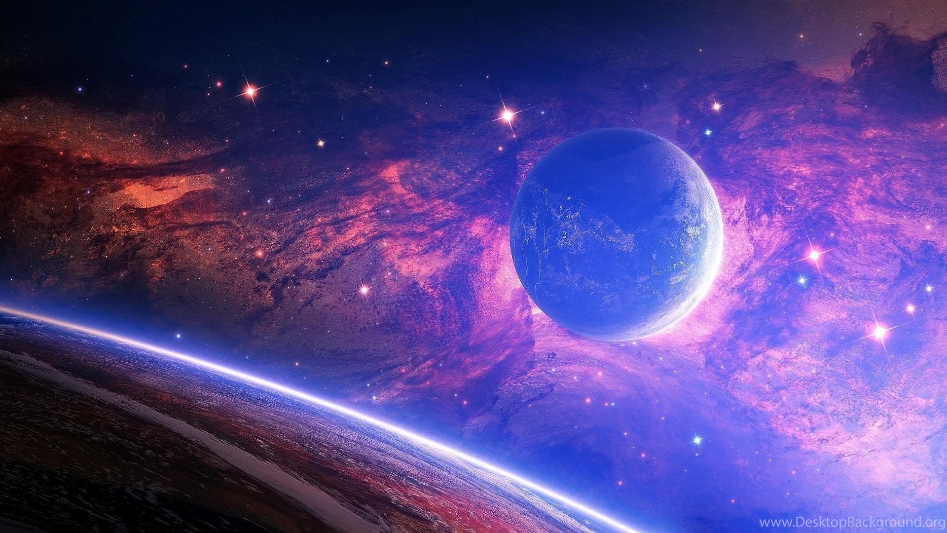 959042 blue planet on a pink backgrounds galaxy wallpapers and