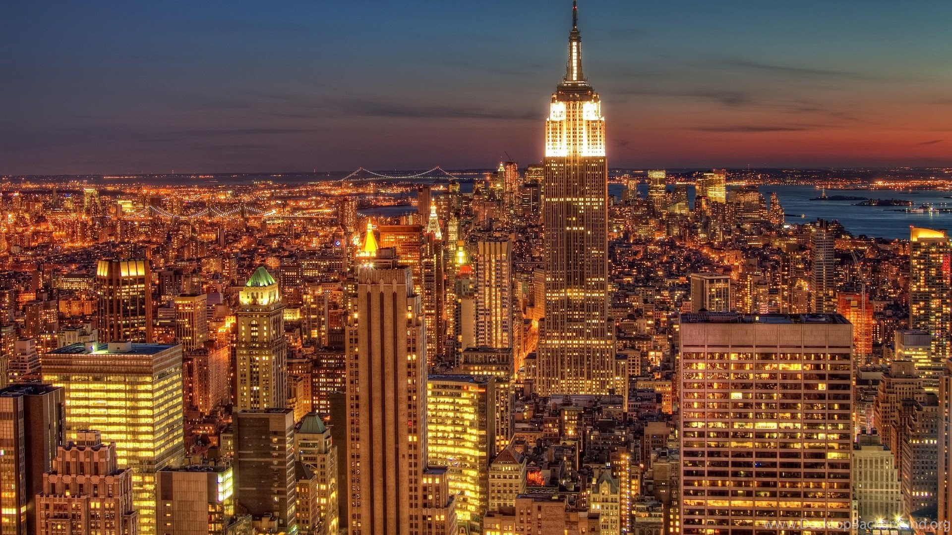 New York At Night Wallpapers Hd Resolution Wallpapers Desktop Background