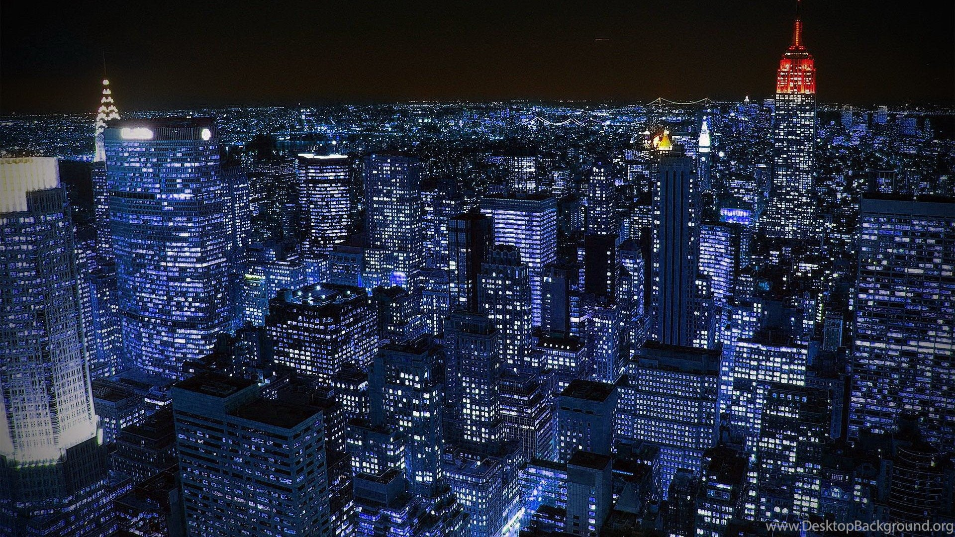 High Resolution New York Skyline At Night Wallpapers Hd 6 City