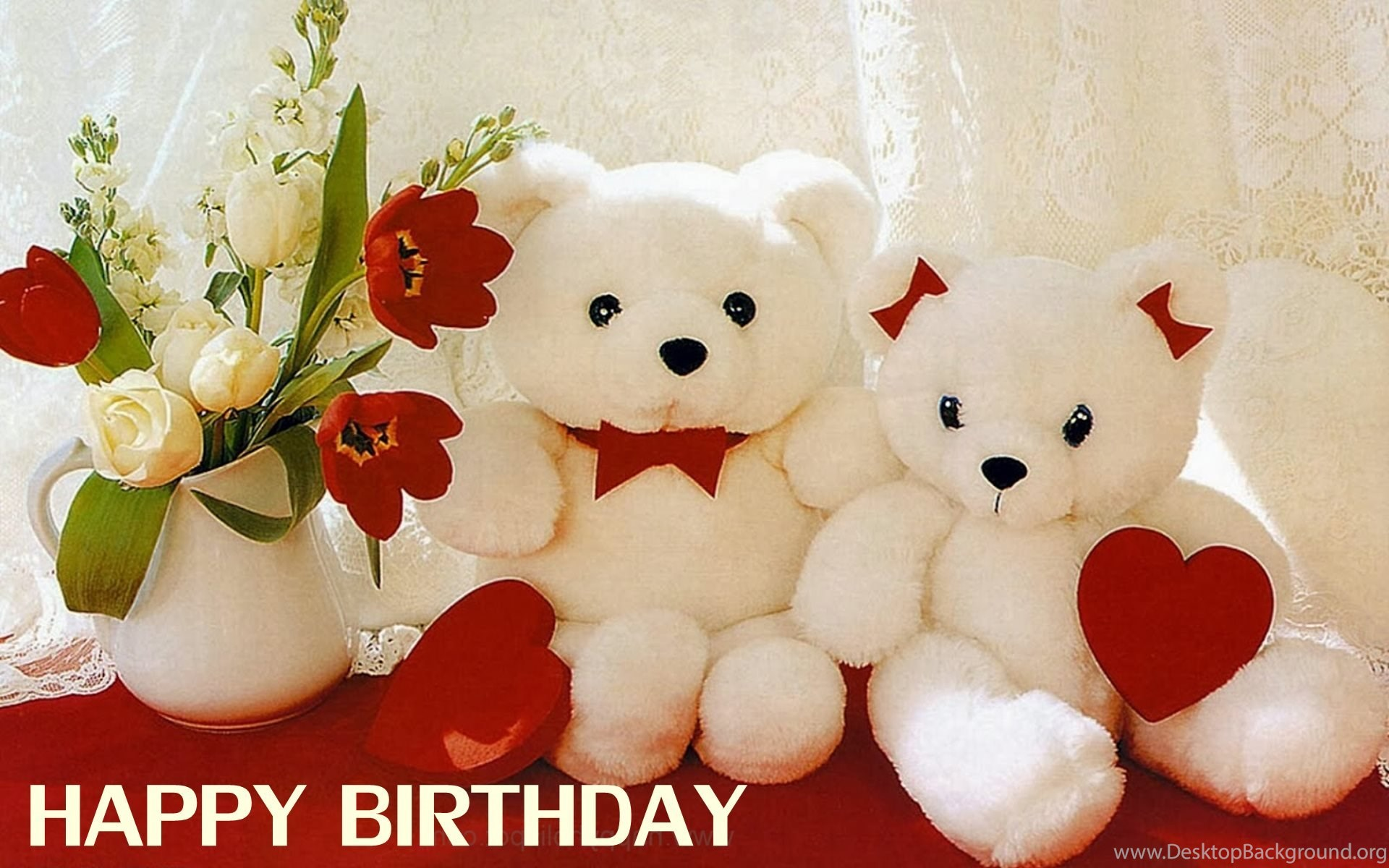 Happy Birthday Wishes With Cute Teddy Bear HD Wallpapers