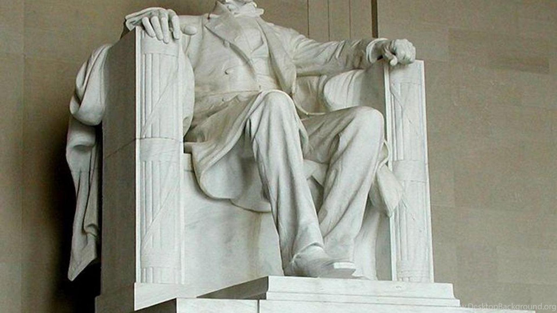 lincoln statue at abraham lincoln memorial wallpaper ( desktop