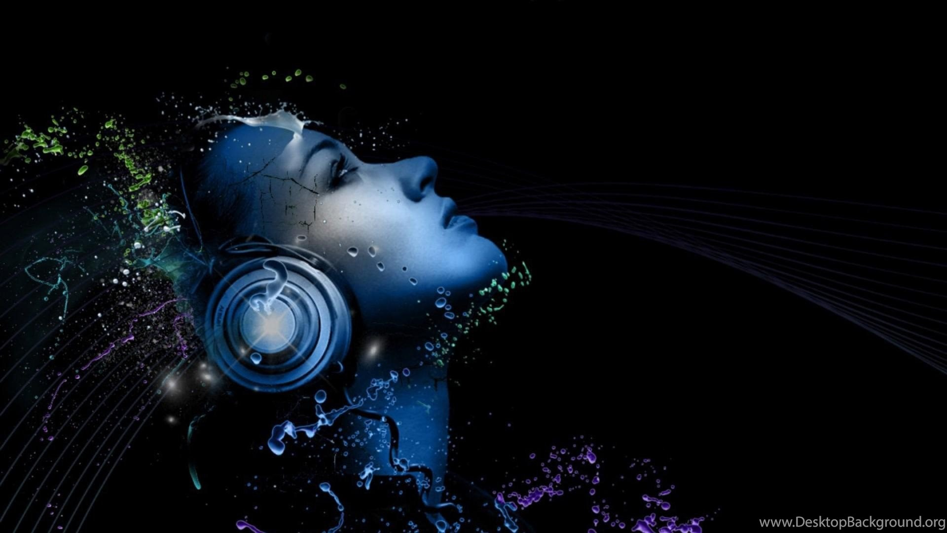 Wallpapers cute eyes headphones women pin abstract music djs party popular voltagebd Images