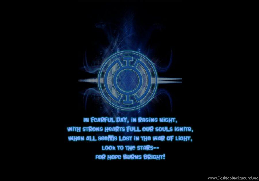 Deviantart More Like Blue Lantern Oath By Hipidy Desktop Background