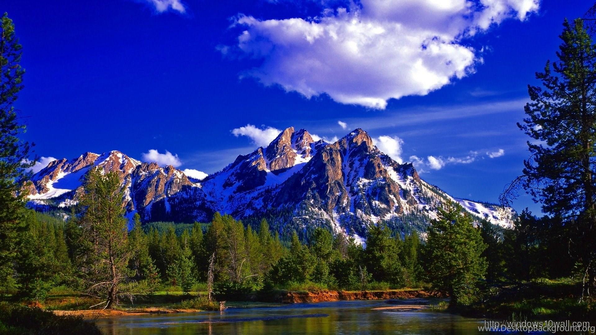 Mountain Nature Blue Sky Wallpapers Windows 10 Desktop