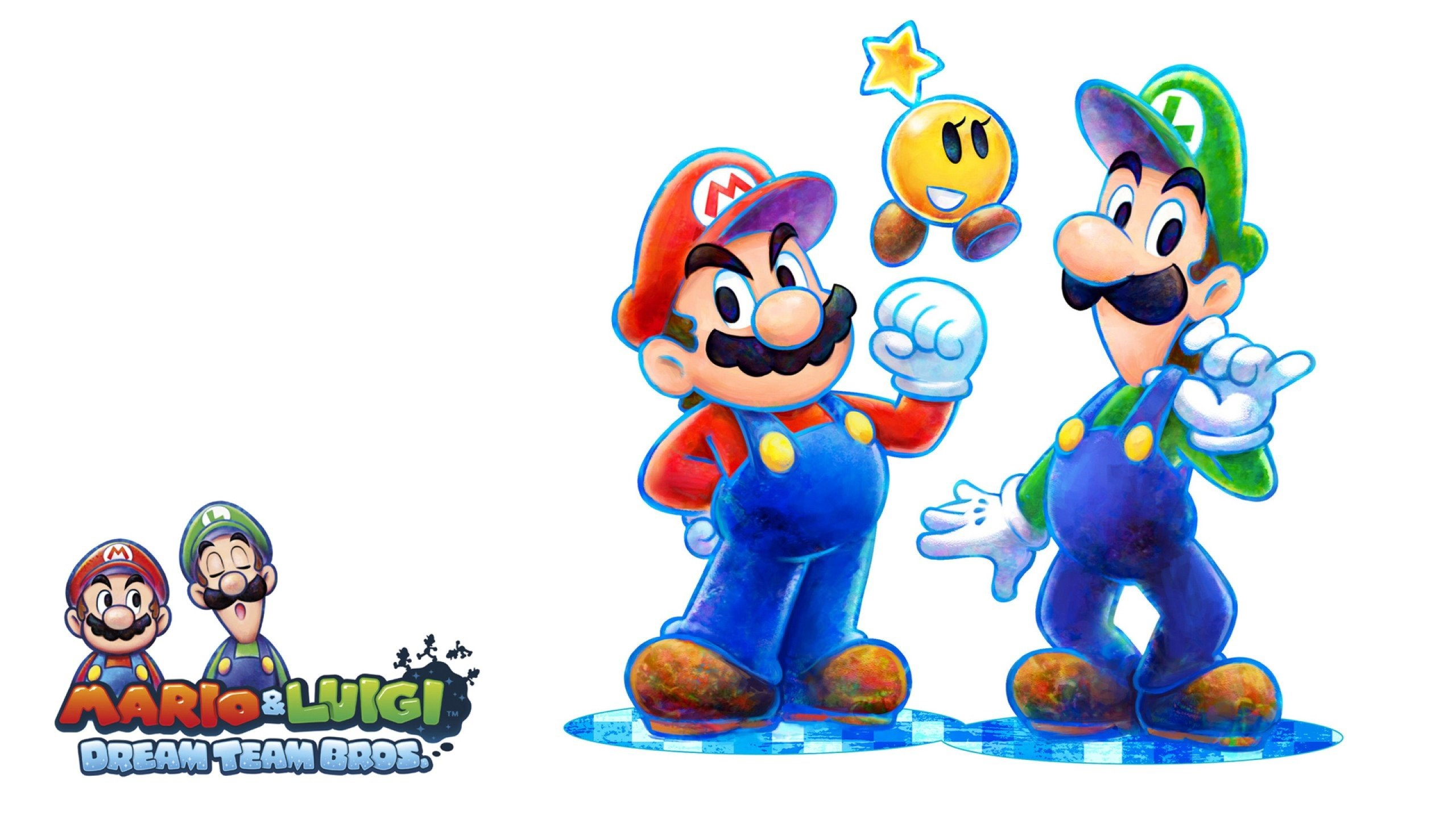 Mario Luigi Dream Team 2560x1440 Desktop Background