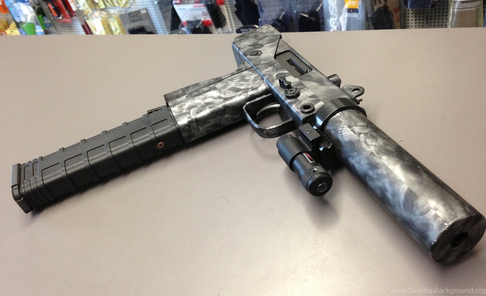 UZI Machine Gun Weapon Military Police Assault Pistol (13