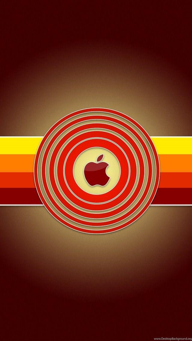 Red Apple Logo Iphone 5 Wallpapers Desktop Background