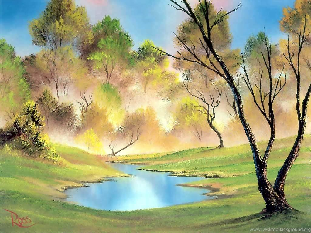 Nature Oil Painting Wallpapers Desktop Background