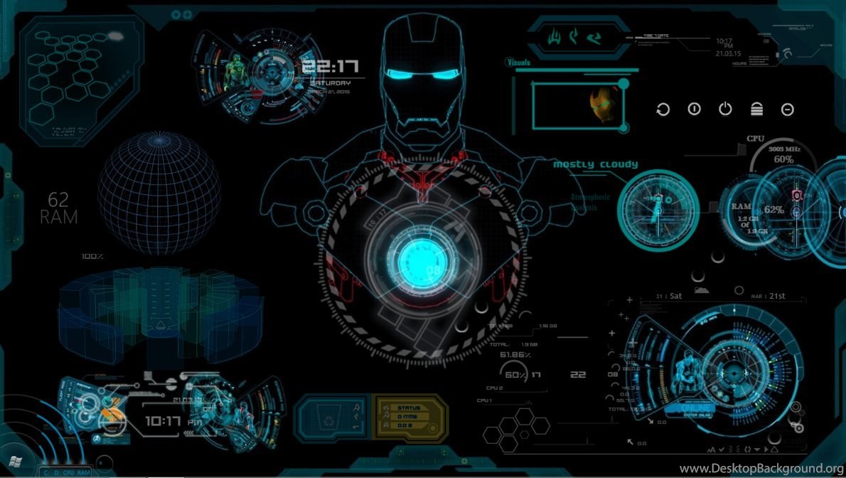 Free iron man jarvis wallpapers high definition desktop - Jarvis wallpaper 4k ...