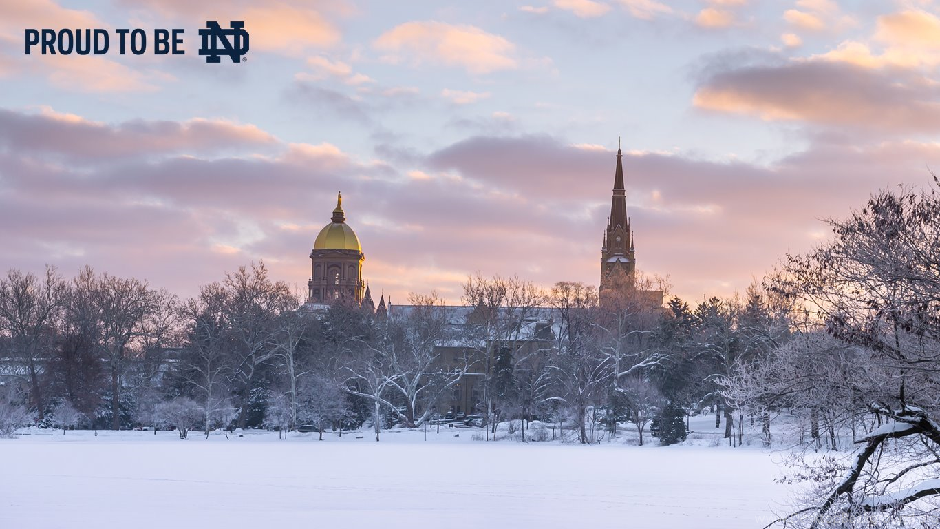 Merry Christmas // University Of Notre Dame Desktop Background