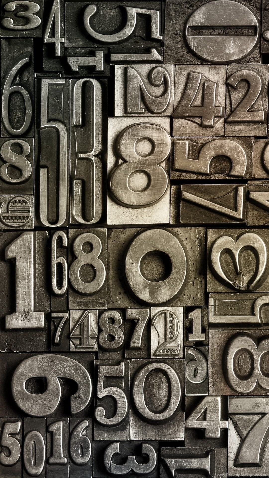 Designs metallic numbers iphone 6 plus wallpapers abstract - Number wallpaper ...