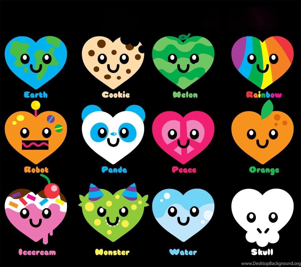 Super Cute Hearts Flikie Wallpapers Desktop Background
