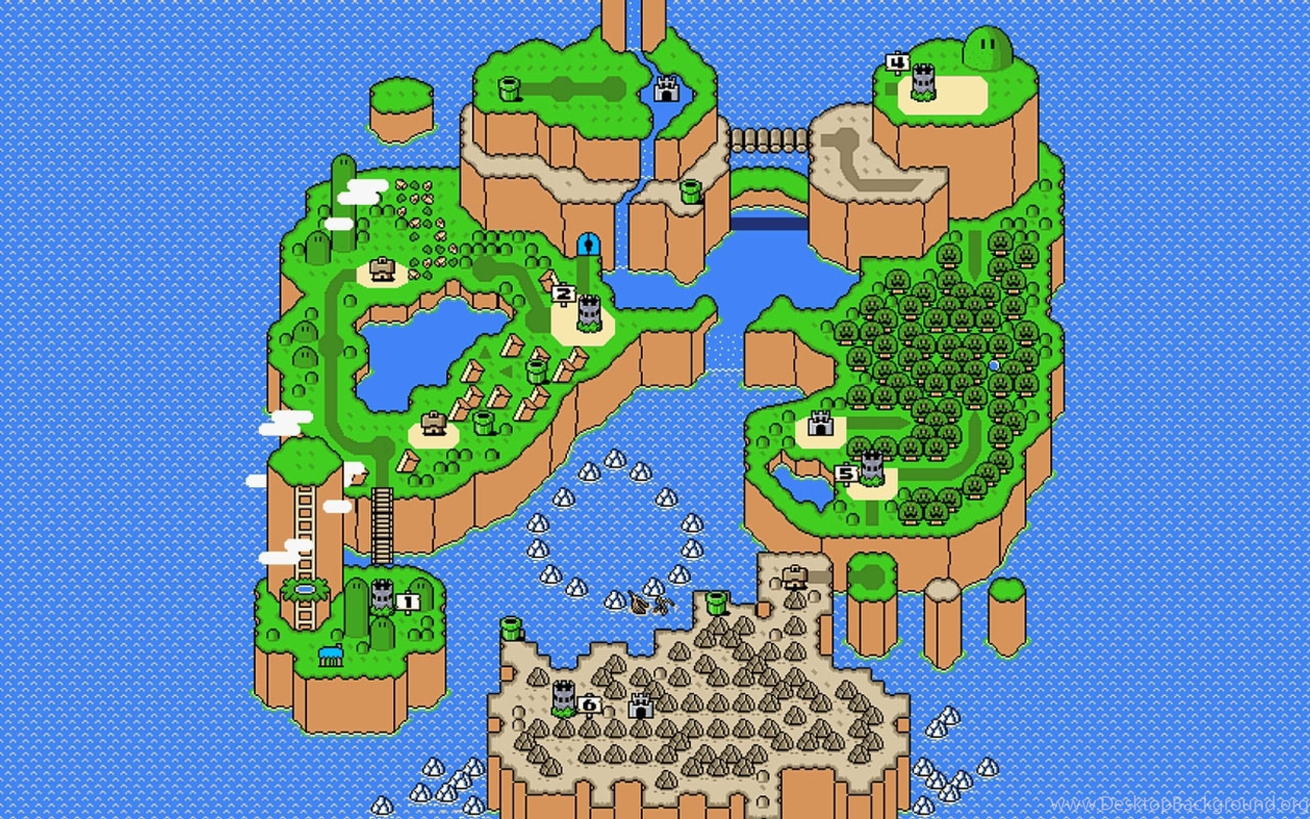 Download Wallpapers Download 2560x1600 Super Mario World Maps