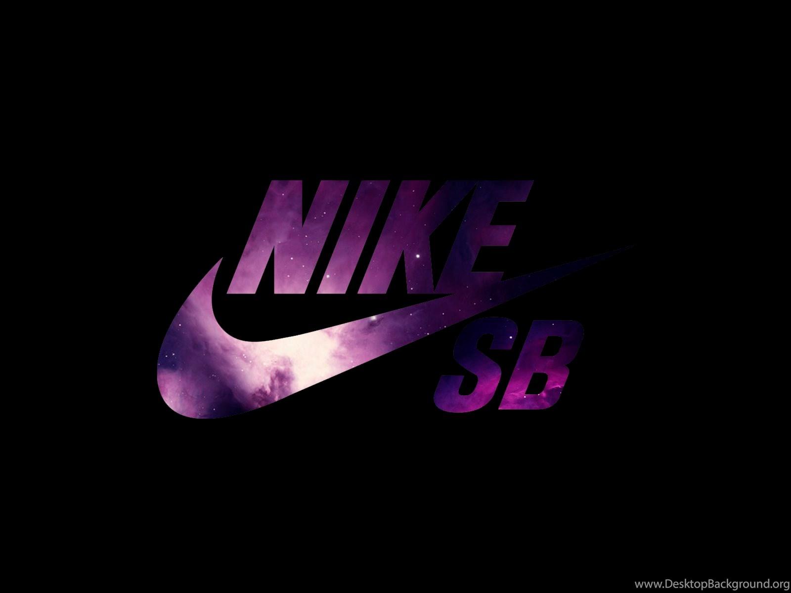 Nike Logo Purple Black Backgrounds Wallpaper Nike