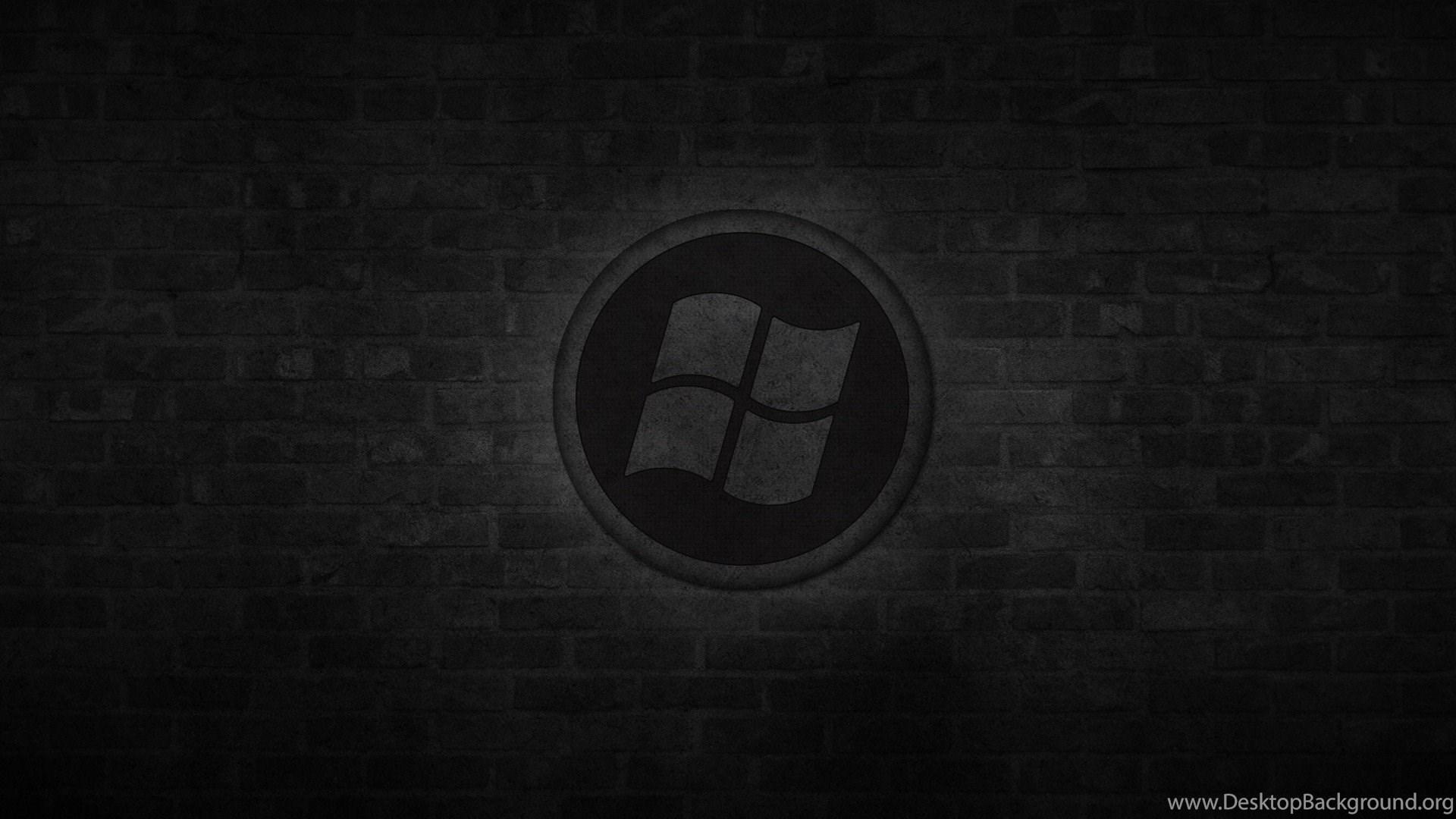 Windows: Dark Windows Logo Tech Hi Free Wallpapers For HD ...