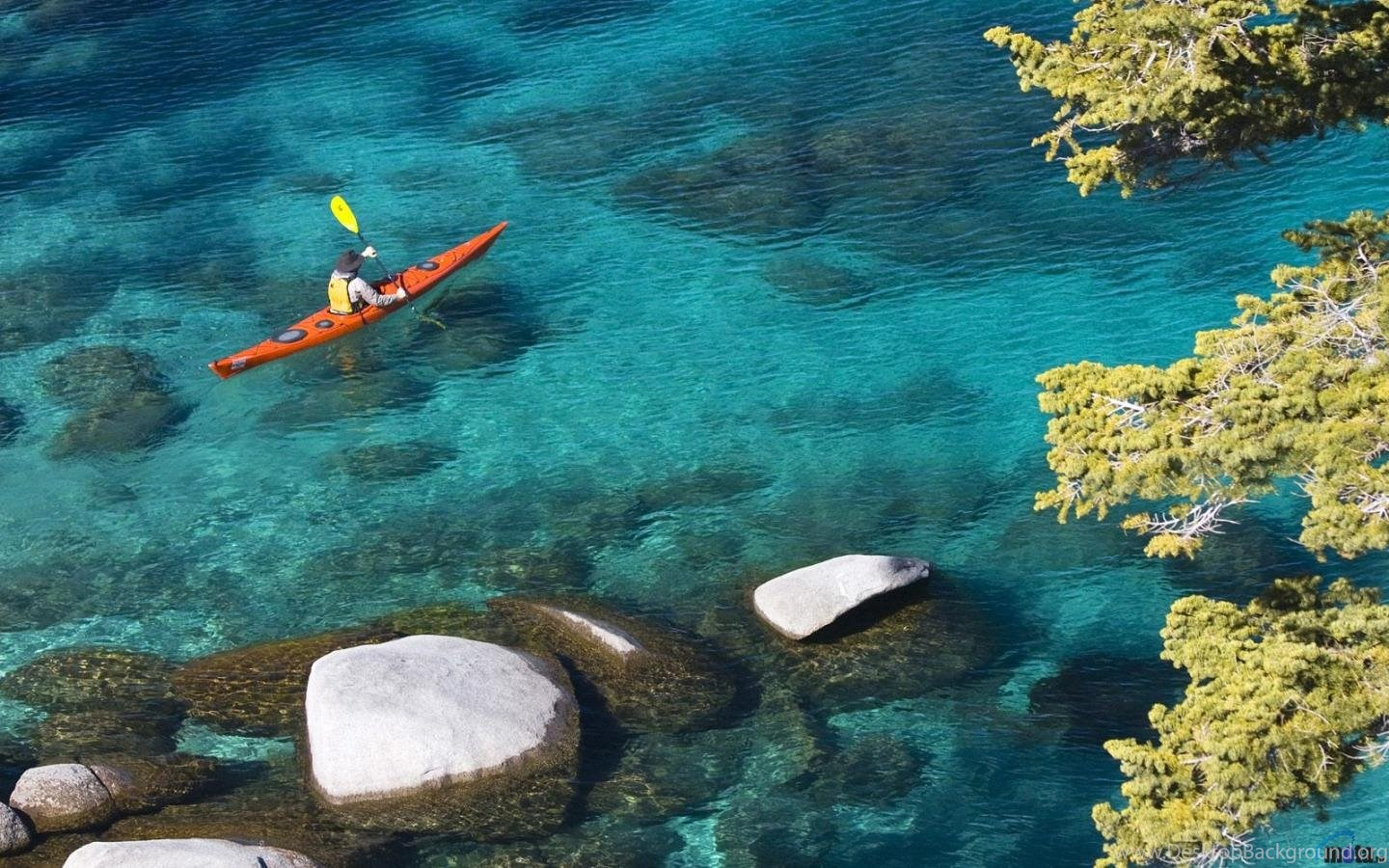 Download Wallpapers Kayaking At Lake Tahoe Nevada 1440 X 900