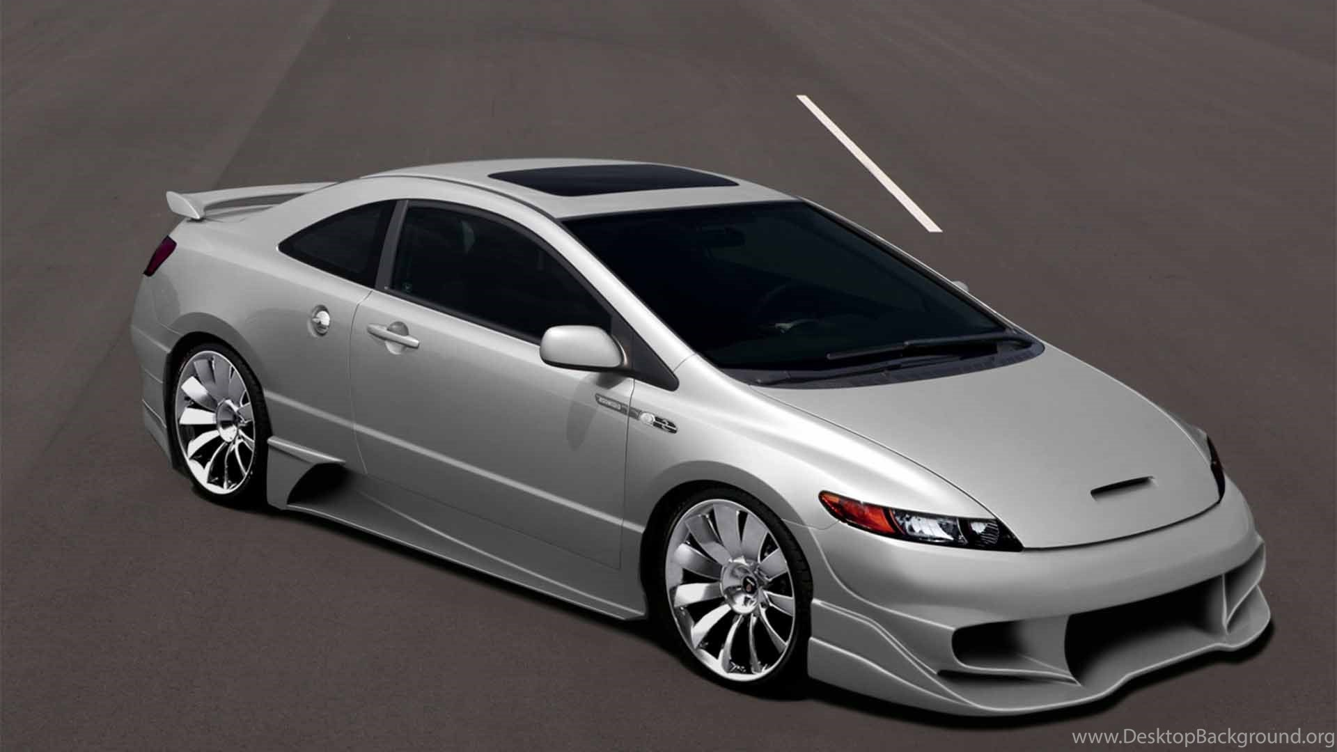custom honda civic si, modified honda civic wallpapers johnywheels