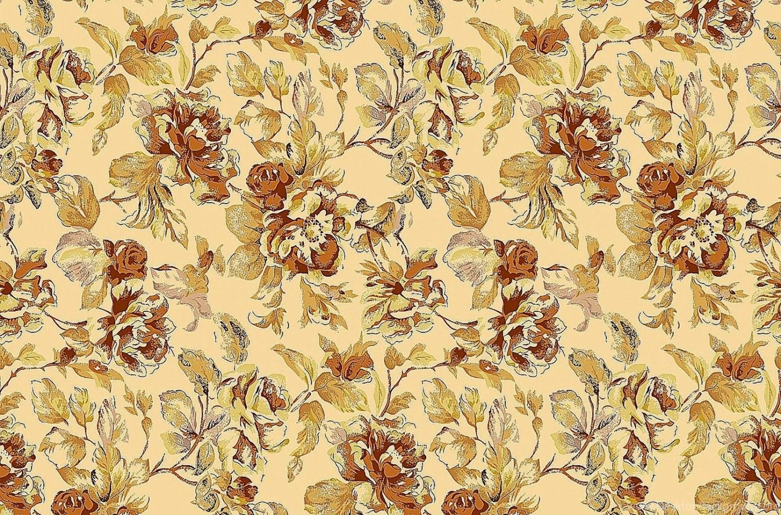 Vintage Floral Wallpapers Pattern Desktop Background