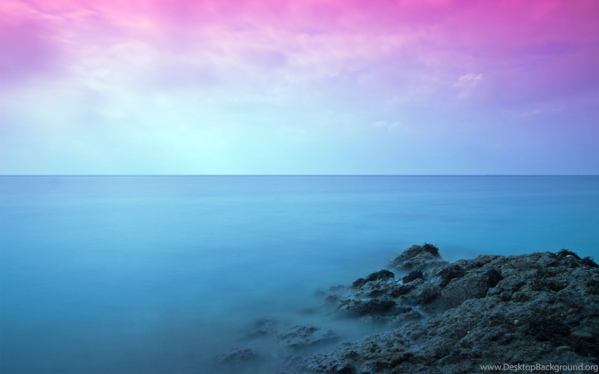 Pink Sky, Rock, Sea, Nature, 1920x1200 HD Wallpapers And
