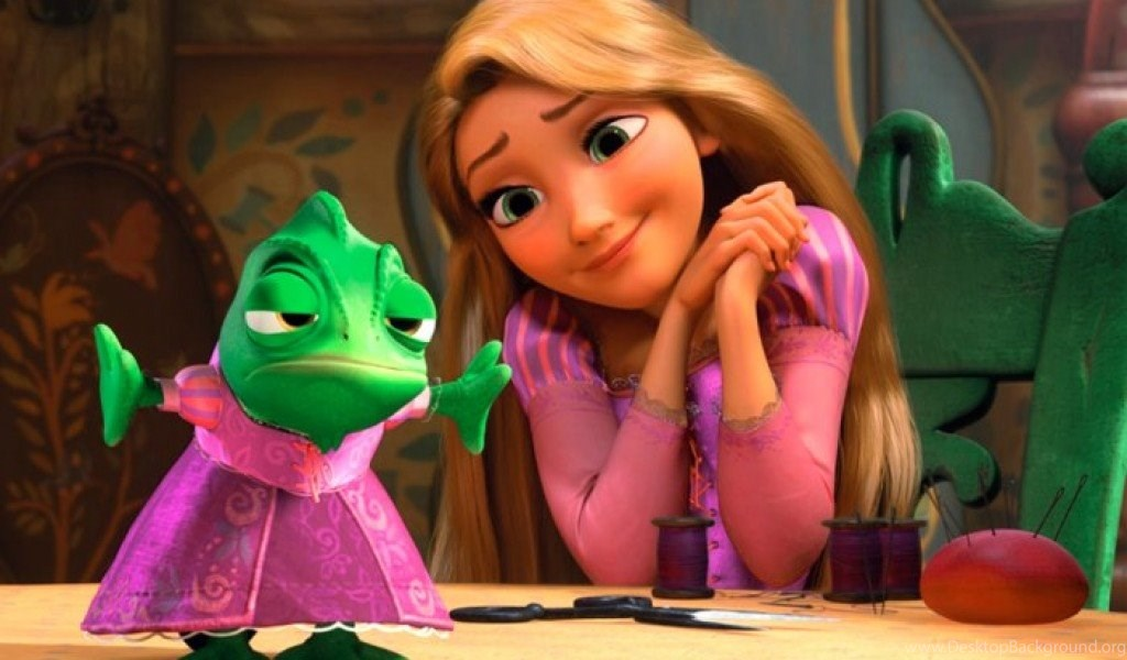 Rapunzel And Pascal Tangled Disney Wallpapers Desktop Background