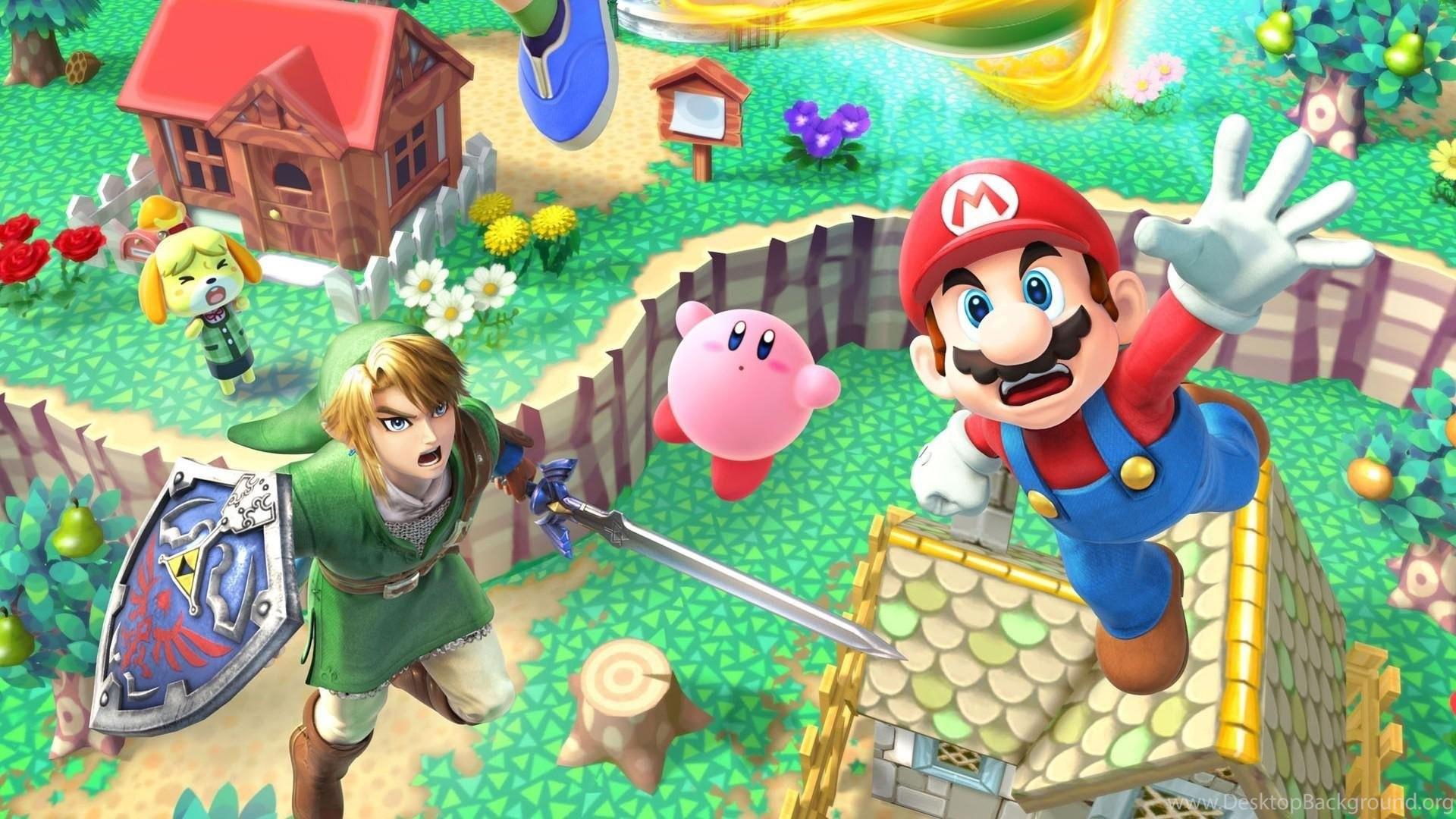 Link Mario Super Smash Bros Animal Crossing Wallpapers