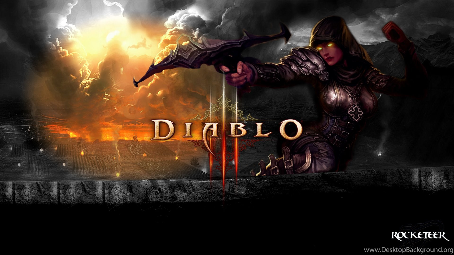 Diablo 3 Wallpapers 1920x1080 Demon Hunter Desktop Background