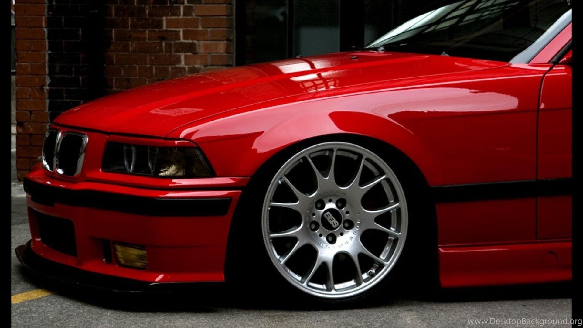 Bmw Red E36 Wallpapers Desktop Background