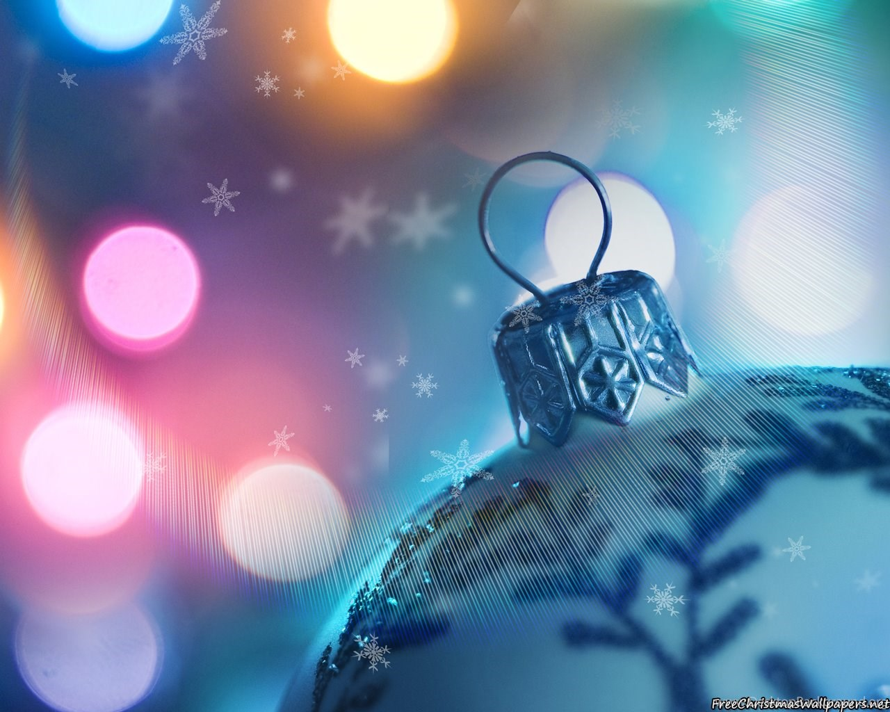 Colorful Christmas Ornaments Wallpapers 1 Desktop Background