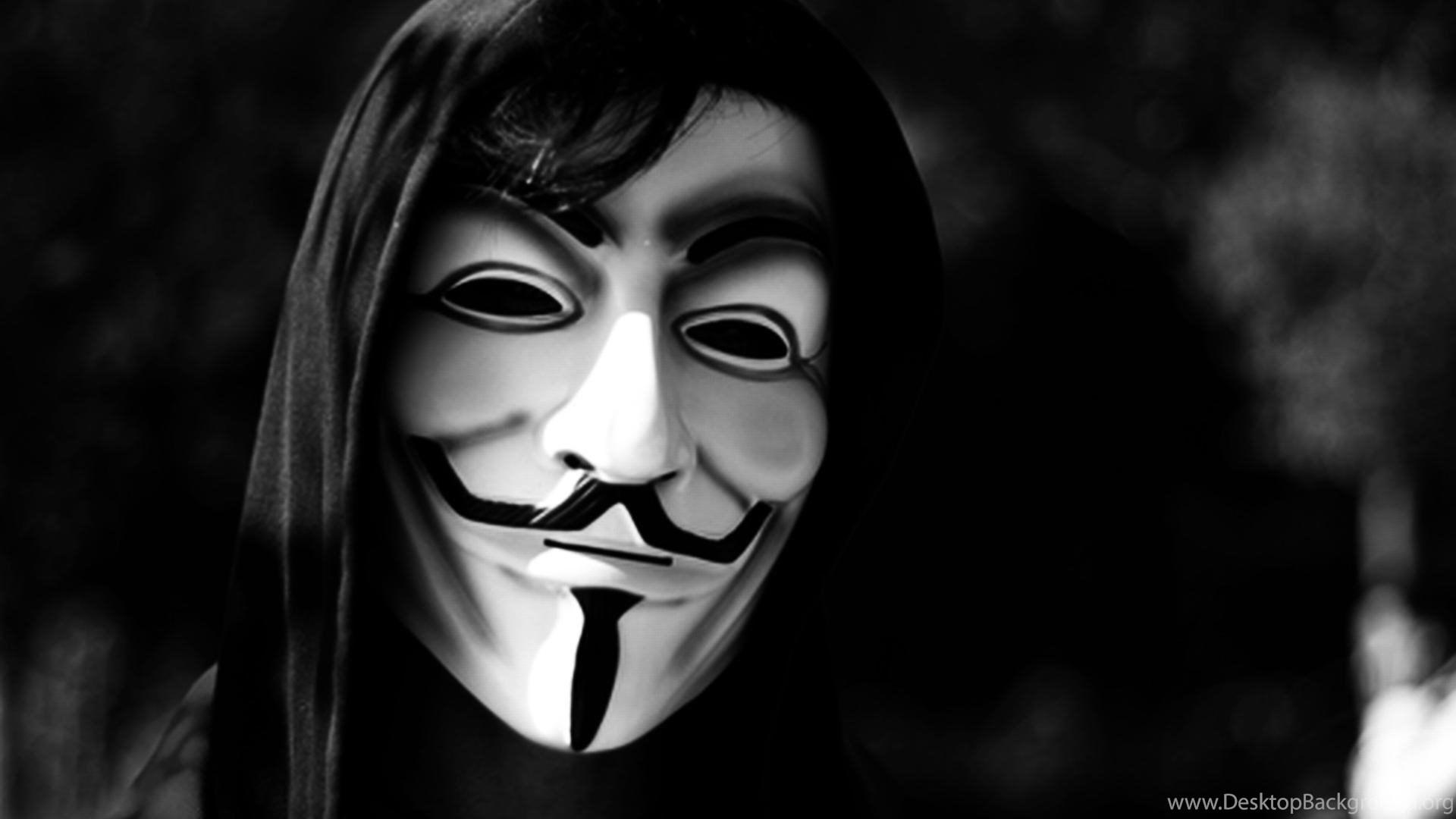 Anonymous V For Vendetta Masks Monochrome Wallpapers Desktop Background