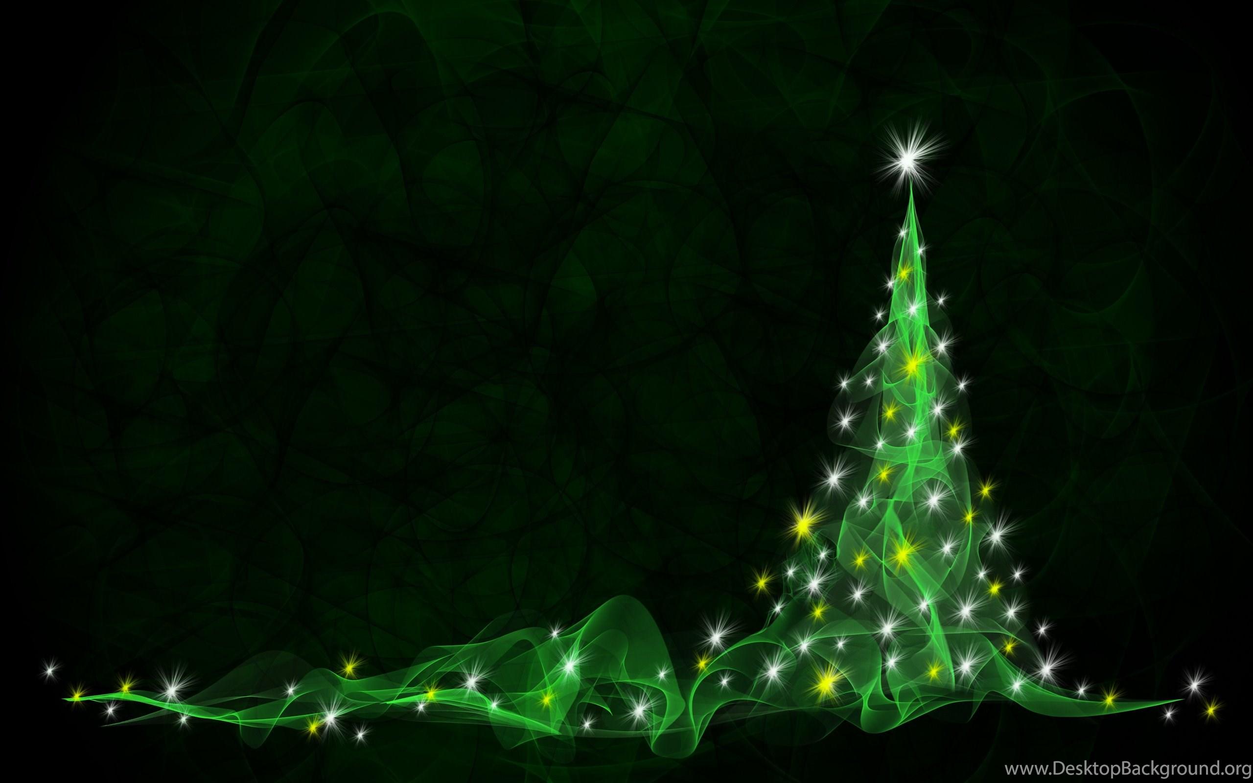 Green Christmas Tree Artwork Wallpapers Desktop Background