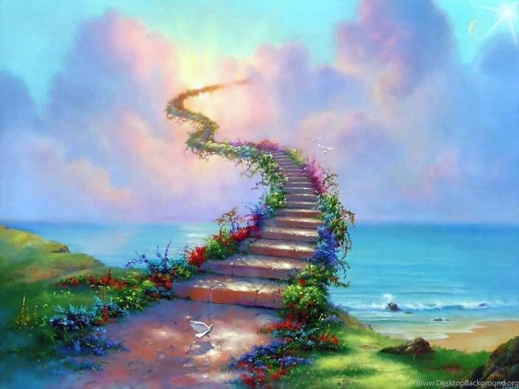 Art Amazing Road To Heaven Wallpapers Download Hd Wallpapers Desktop Background