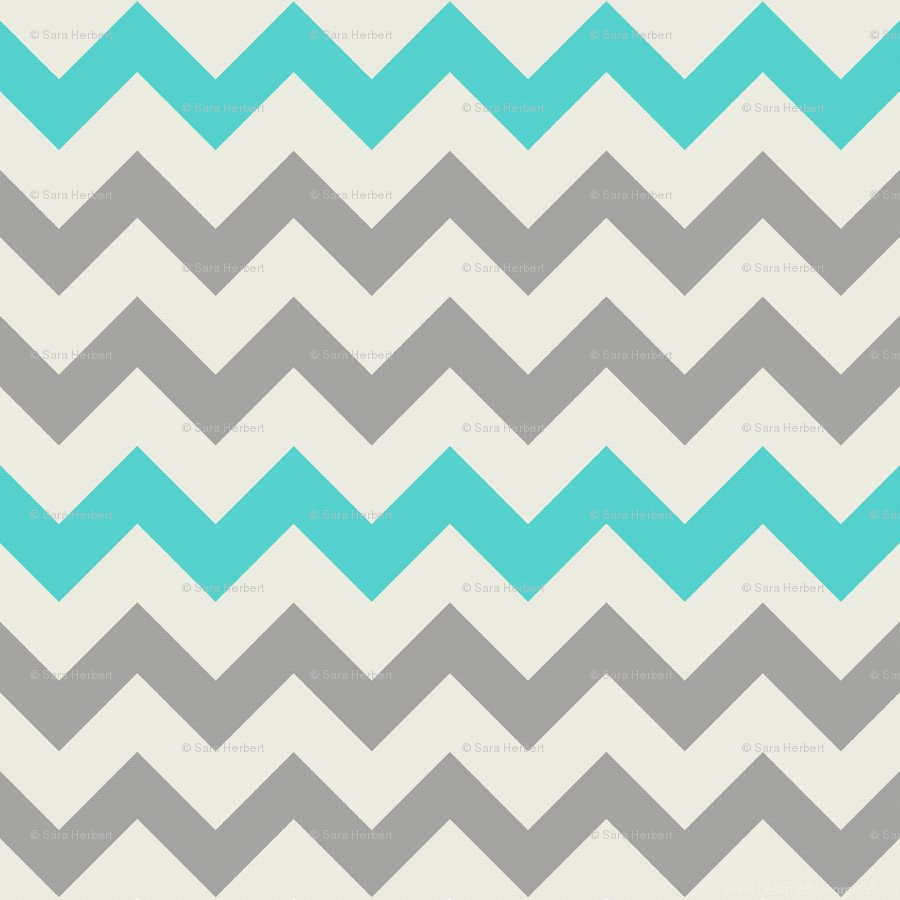 Chevron Teal And Gold Background