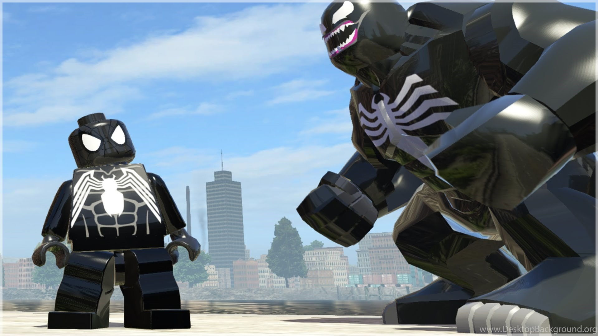 Venom Vs Black Suit Spider Man Epic Battle Lego Marvel Super