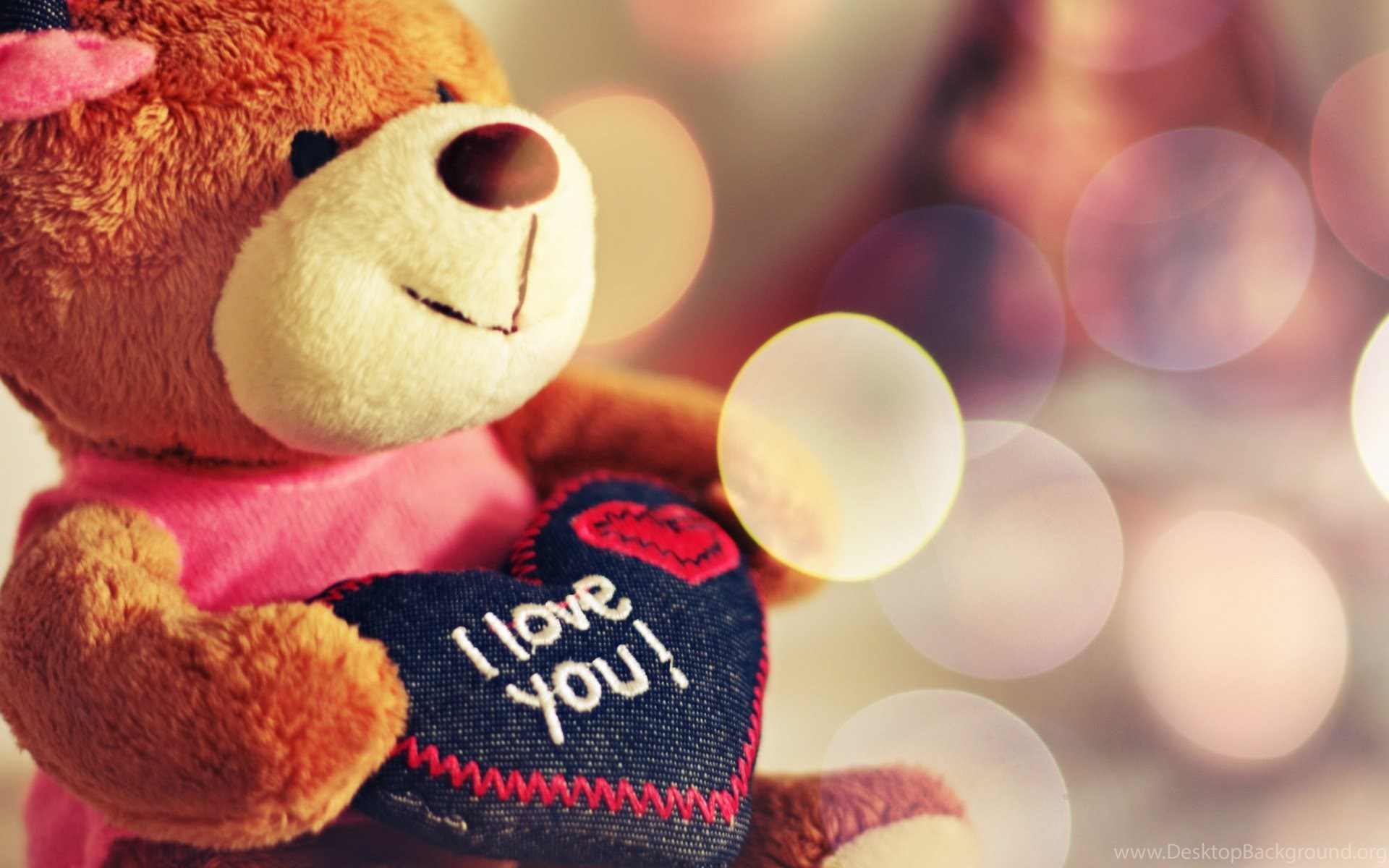 I love you teddy bear wallpapers desktop background widescreen thecheapjerseys Image collections